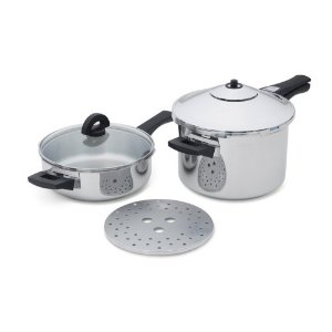 kuhn rikon duromatic 6 piece duo pressure cooker set